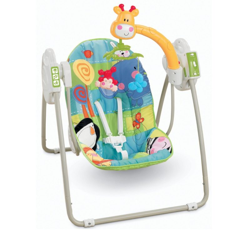 Электрокачели с игрушками