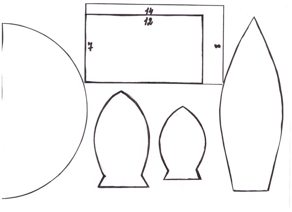 Выкройки тюльпанов