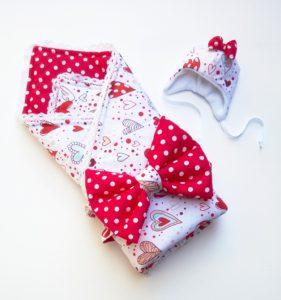одеялко красное
